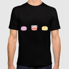 Pastel Macarons Black SMALL Mens Fitted Tee