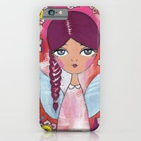 iPhone & iPod Case featuring Angel with flowers by ArtByBeata