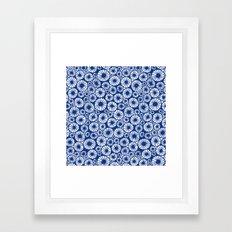millefiori. indigo Framed Art Print