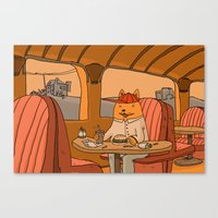 American Fast Food Canvas Print