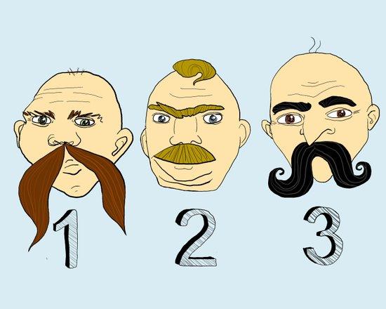 The Three Mustaches Art Print
