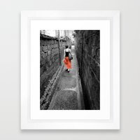 Damp Passage Framed Art Print