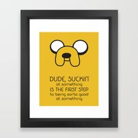 Wisdom From A Dog Framed Art Print