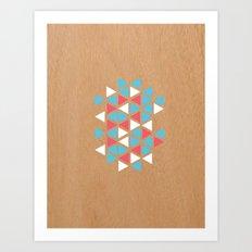 Triangle/wood Art Print