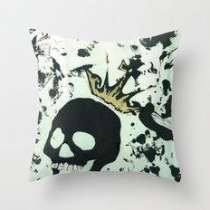 Last Laughing Skull Throw Pillow