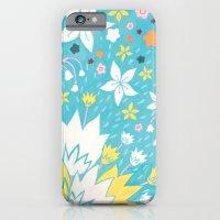 Aqua Lilies iPhone 6 Slim Case