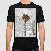 Rainy Day Palm Tree Mens Fitted Tee Tri-Black SMALL