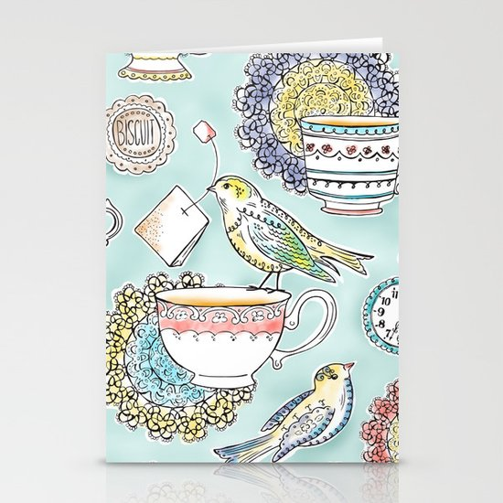 Tea Time Stationery Card