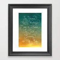 Sense Of Humor Framed Art Print