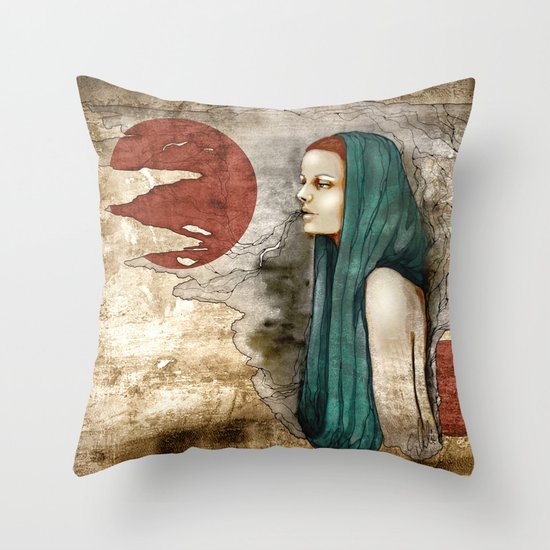 """""""Romaine Dust"""" by carographic Throw Pillow"""