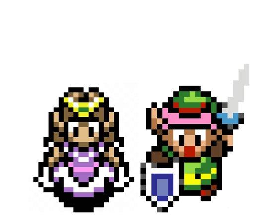 Zelda and Link Art Print