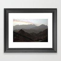 Sinai Mountains, Egypt Framed Art Print