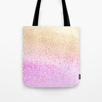 GOLD PINK GLITTER by Monika Strigel Tote Bag
