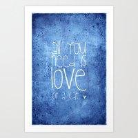 CAT LOVE Art Print