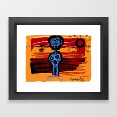 peace and love and happiness Framed Art Print