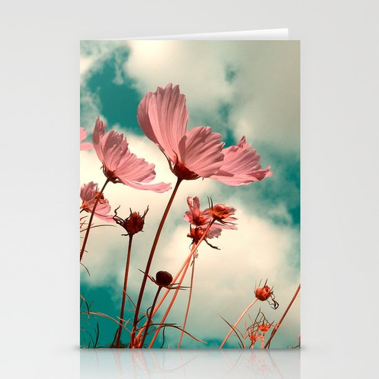 cosmos flowers II Stationery Card