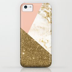 Gold marble collage iPhone 5c Slim Case