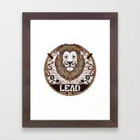 Lead Framed Art Print