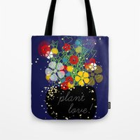 Tote Bag featuring Plant Love! by Inspire me Print