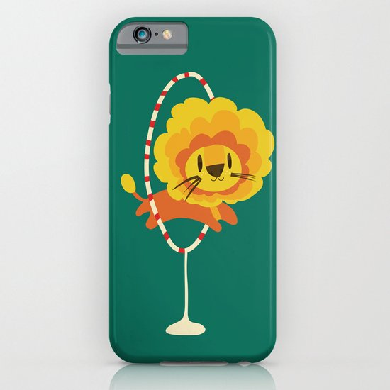 Lion hopped through a loop iPhone & iPod Case