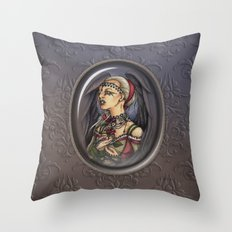 Marooned - Gothic Angel Portrait Throw Pillow
