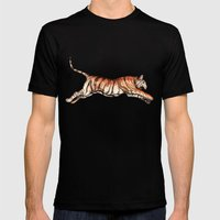 Leaping Tiger Mens Fitted Tee Black SMALL
