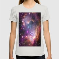 Small Magellanic Cloud Womens Fitted Tee Silver SMALL