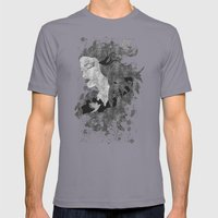 Cosmic Dreams (B&W) Mens Fitted Tee Slate SMALL