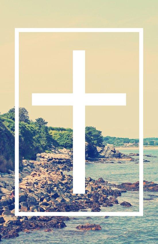Shore Cross Art Print