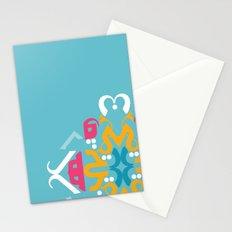 Blue Arabic Stationery Cards