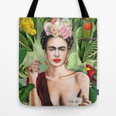 Frida con amigos Tote Bag