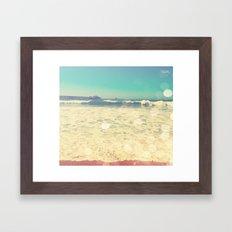 Summertime at the Beach Framed Art Print