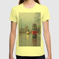 Queen & Kingston Womens Fitted Tee Lemon SMALL