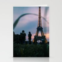 The Eiffel Tower during a summer evening. Stationery Cards