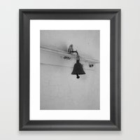 Bell in old house Framed Art Print