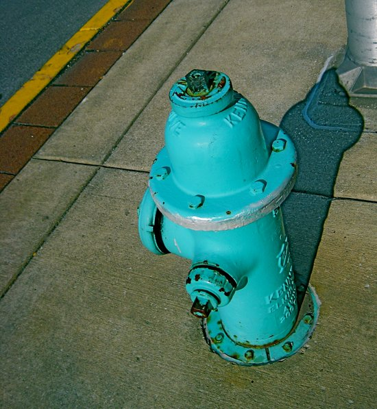 Turquoise Hydrant Art Print