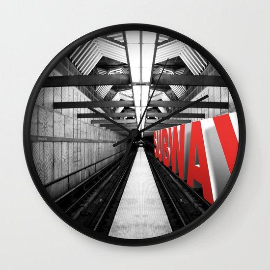 LA subway Wall Clock