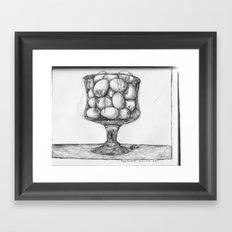 eggs in glass Framed Art Print