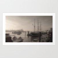 Hamburg Dock Vista  Art Print