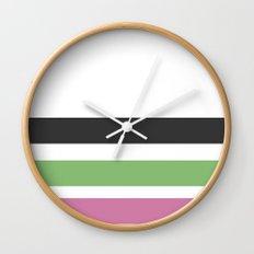 drei einsame streifen Wall Clock