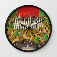 Super Twin Peaks Wall Clock