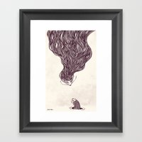 Father And Son Framed Art Print