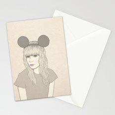 Mouse Girl Stationery Cards