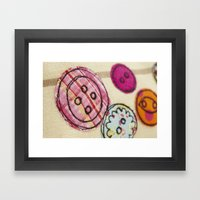 Embroidered Buttons Framed Art Print