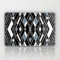 Art Deco Zoom Blue Laptop & iPad Skin