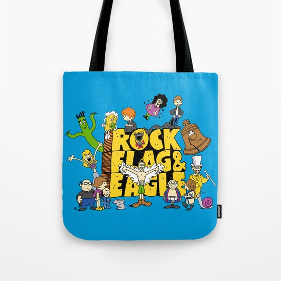 Rock, Flag & Eagle Tote Bag