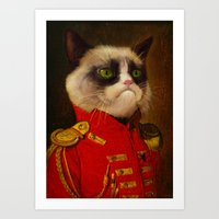 The Cat Is Grumpy Art Print