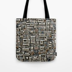 Abstract Metallic Structure Tote Bag