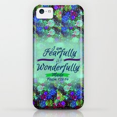 FEARFULLY AND WONDERFULLY MADE Floral Christian Typography God Bible Scripture Jesus Psalm Abstract iPhone 5c Slim Case