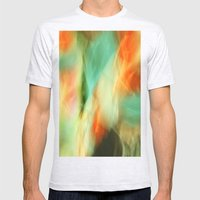 Abstract Art II Blue/Bla… Mens Fitted Tee Ash Grey SMALL